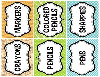 Printable Classroom Value Pack--Labels, Schedule, Name Plates, etc!