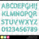 Printable Clip Art *FABULOUS FOIL- BLUE* Alphabet, Punctuation and Number Set