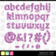 Printable Clip Art *FABULOUS FOIL- PURPLE* Alphabet, Punct