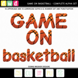 *GAME ON - BASKETBALL* Printable Letters Numbers Clip Art