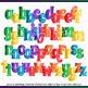 Printable Clip Art *GRANS SEWING BASKET - BRIGHTS* Alpha, Punct & Number Set