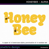 Printable Clip Art *HONEYBEE* Alphabet, Punctuation and Nu