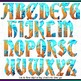 Printable Clip Art *ICE AND FIRE* Alphabet, Punctuation an