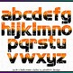 Printable Clip Art *JACK-O HALLOWEEN* Alphabet, Punctuation and Number Set