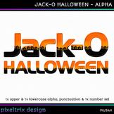 Printable Clip Art *JACK-O HALLOWEEN* Alphabet, Punctuatio