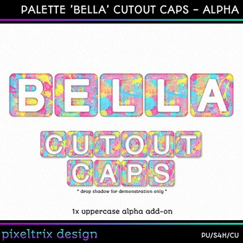 Printable Clip Art *PALETTE - BELLA* Alphabet, Punctuation and Number Set