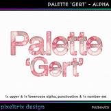 Printable Clip Art *PALETTE - GERT* Alphabet, Punctuation and Number Set