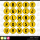 Printable Clip Art *SIGNED - CIRCULAR* Alphabet, Punctuation and Number Set