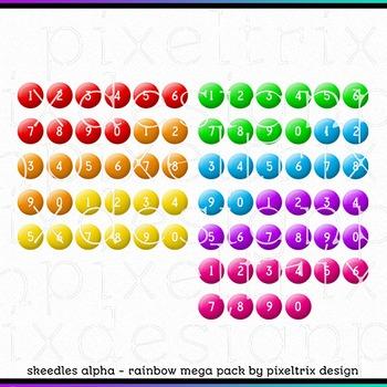 Printable Clip Art *SKEEDLES RAINBOW MEGAPACK* Alphabet, Punct and Number Set