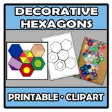 Printable Clipart - Decorative hexagons - Hexágonos decorativos