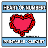 Printable Clipart - Heart of numbers