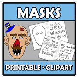 Printable Clipart - Masks - Caretas