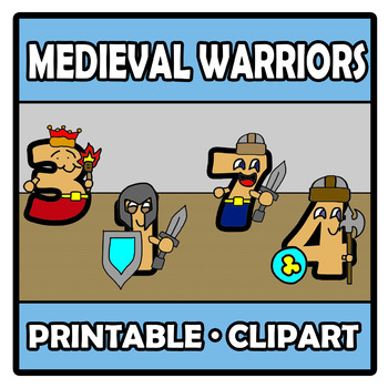 graphic relating to Warriors Printable Schedule called Printable Clipart - Medieval warriors with quantities