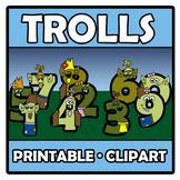 Printable Clipart - Trolls