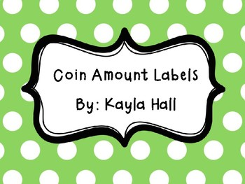 Printable Coin Amount Labels **Freebie**