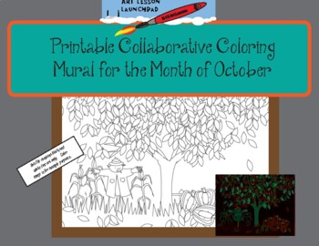 picture about Printable Mural called Printable Collaborative Coloring Mural for Oct