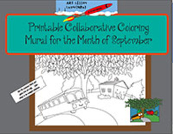 Free Printable Collaborative Coloring Mural for September
