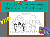 Printable Collaborative Coloring Mural for the Month of December