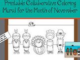 Printable Collaborative Coloring Mural for the Month of November