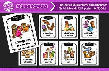 Printable Collective Nouns Posters Animal Series2