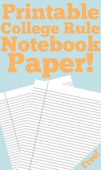 Printable College Rule Paper