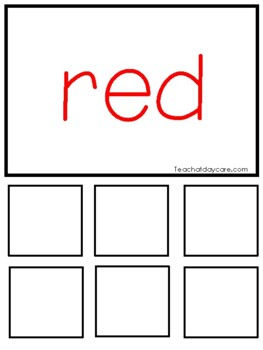 Printable Color Games and Game Pieces. Preschool Learn Your Colors.