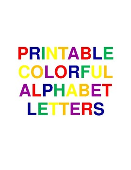 Printable Colorful Alphabet Letters