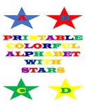 Printable Colorful Alphabet Letters With Stars