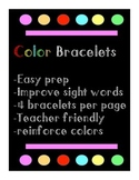 Printable Colour Sight Word Bracelets, primary classroom, language