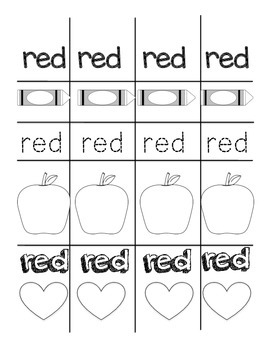 Printable Colour Sight Word Bracelets, primary classroom, language