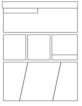 photograph about Comic Strip Template Printable known as Printable Comedian Strip Templates