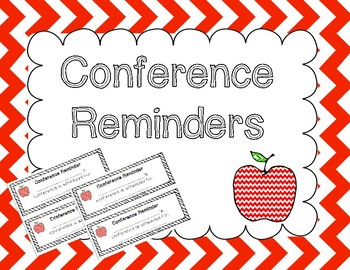 Printable Conference Reminders