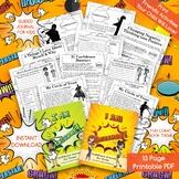 Confidence Self-Esteem Journal for Girls & Boys Teens\Tweens Comic Book Theme