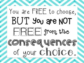 Printable: Consequences Quote Poster