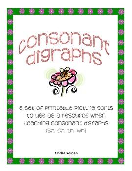 Printable Consonant Digraph Sorts