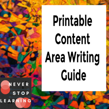 Printable Content Area Writing Guide