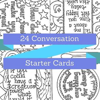 Printable Conversation Starter Cards