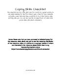 Printable Coping Skills Checklist
