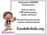 Printable Counting Numbers Game - Kindergarten