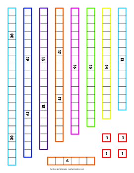 Printable Counting Rods - Cuisenaire-Style Manipulatives - with Activity Sheets