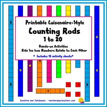 photo relating to Cuisenaire Rods Printable called Printable Counting Rods - Cuisenaire-Design and style Manipulatives