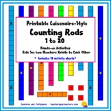 Printable Counting Rods - Cuisenaire-Style Manipulatives -