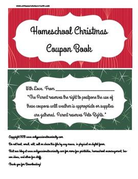 Printable Coupon Book For Homeschooled Kids