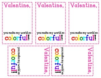 Printable Crayon Valentine Card