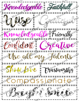 Printable Creative life vision board sheets