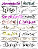 Printable Creative life vision board sheets