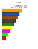 Printable Cuisenaire Rods (Color)