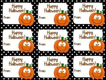 photograph regarding Happy Halloween Printable identified as Printable Lovable Halloween Present Tag (Content Halloween)