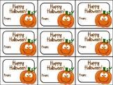 Printable Cute Halloween Gift Tag (Happy Halloween)