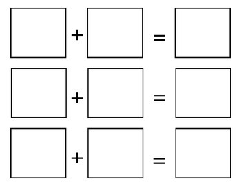 Printable & Cuttable Addition Boards - Horizontal